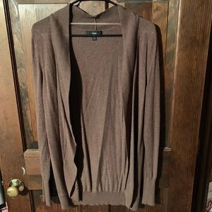 Brown cover up sweater